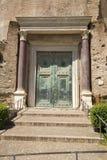 Drzwi pierwszy Romański senat forum, Rzym, Włochy, Europa Fotografia Royalty Free