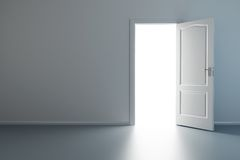 drzwi pokój pusty nowy rozpieczętowany ilustracja wektor