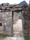 Drzwi przy Mach Picchu Peru Zdjęcia Stock