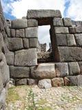 Drzwi przy Sacsayhuaman Peru Obraz Royalty Free