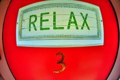 drzwi relaksuje znaka Obrazy Royalty Free