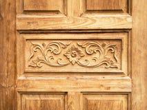 drzwi rzeźbiący wzór obrazy stock