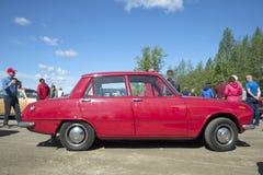 Drzwi sedan Isuzu Bellett na paradzie roczników pojazdy Kerimyaki, Finlandia Fotografia Royalty Free