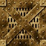 drzwi stary rusty metali Zdjęcia Royalty Free