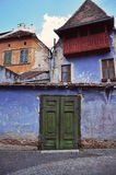 drzwi stary zielony Zdjęcie Stock