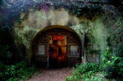 drzwi tajemniczy obrazy royalty free