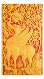 drzwi tajlandzki stylowy świątynny Fotografia Royalty Free