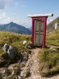 Drzwi w alps Obrazy Stock