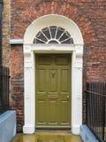 Drzwi w georgian domu Dublin Obrazy Royalty Free