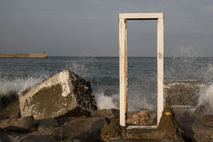 Drzwi w morzu Zdjęcie Stock