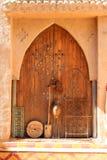 Drzwi w Rissani, Maroko obraz stock