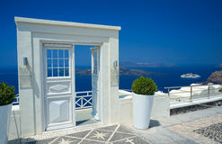 Drzwi w Santorini Zdjęcia Stock