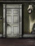 Drzwi w starym pokoju Fotografia Royalty Free