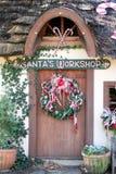 drzwi warsztat s Santa Zdjęcie Stock