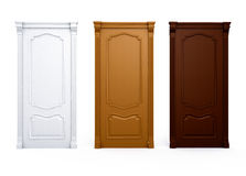 drzwi wnętrze domu szczególną drewna Fotografia Royalty Free