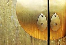 drzwi złoto zdjęcie royalty free