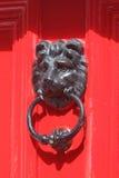Drzwi z brązowymi ornamentami obrazy stock
