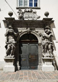 Drzwi z ramowym barokiem, Ljubljana zdjęcie stock