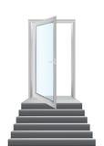 Drzwi z schodkami Zdjęcia Royalty Free