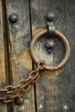 drzwi zabezpieczone 6 drewnianego Fotografia Royalty Free