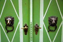 drzwi zieleń obrazy stock