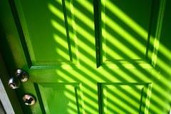 drzwi zieleń Zdjęcia Royalty Free