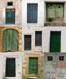 drzwi zielenieją dziesięć Obraz Stock