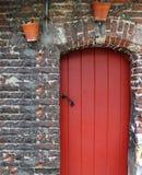 drzwiowa czerwień Obrazy Royalty Free