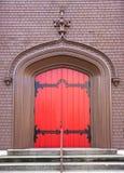 drzwiowa czerwień Zdjęcie Stock