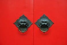 drzwiowa czerwień Fotografia Stock