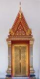 Drzwiowa dekoraci świątynia, Thailand Obrazy Royalty Free