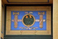 Drzwiowa dekoracja obraz stock
