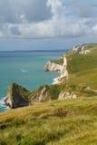Drzwiowa Durdle linia brzegowa Dorset Zdjęcie Stock