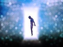 drzwiowa postać światło ilustracji