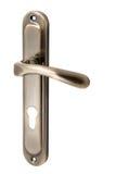Drzwiowa rękojeść z dziurą dla keyhole †'brąz Zdjęcia Stock