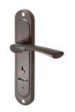 Drzwiowa rękojeść z keyhole †'Brown Zdjęcie Royalty Free