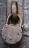 drzwiowa stara kłódka Zdjęcie Stock