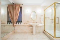 drzwiowa szklana prysznic zdjęcie stock