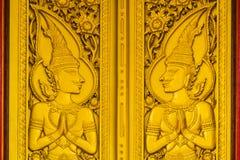 drzwiowa złocista świątynia obraz royalty free