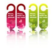 drzwiowe etykietki Zdjęcia Royalty Free