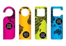 Drzwiowe etykietki Obrazy Stock