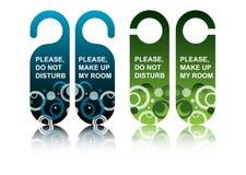 drzwiowe hotelowe etykietki Obraz Stock