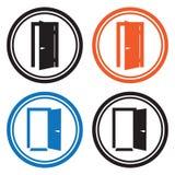 Drzwiowe ikony ilustracji