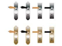 drzwiowe rękojeści Zdjęcia Stock