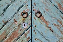 Drzwiowe rękojeści i keyhole obraz royalty free