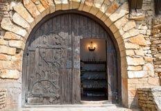 drzwiowego apretury metalu półcyrkłowy drewniany Fotografia Stock