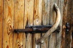 drzwiowego doorknob foto stary drewno Zdjęcia Royalty Free