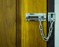 Drzwiowego kędziorka łańcuch Obraz Stock