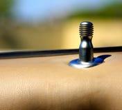 Drzwiowego kędziorka samochodu ochrony pojęcie Fotografia Stock