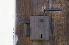 drzwiowego kędziorka stary drewniany Obrazy Royalty Free